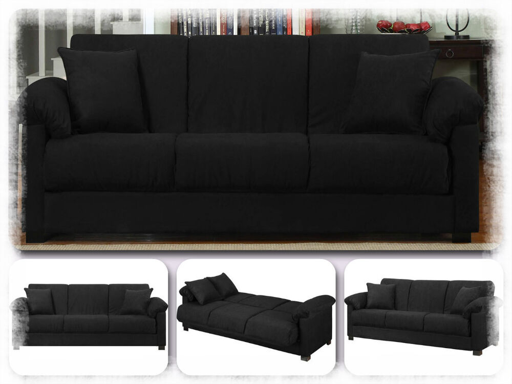 Pull out couch sleeper sofa bed modern furniture lounge living room classic ebay Pull out loveseat sofa bed