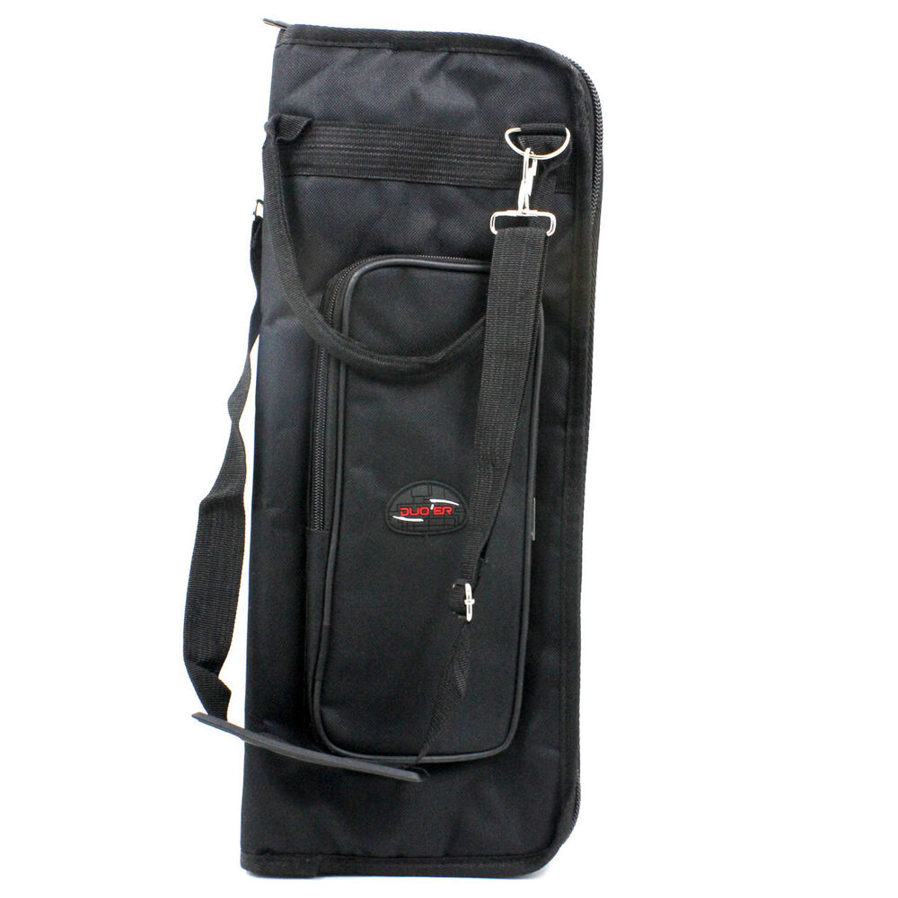 black percussion drumsticks bags drum sticks bag soft case with shoulder strap 729680923576 ebay. Black Bedroom Furniture Sets. Home Design Ideas