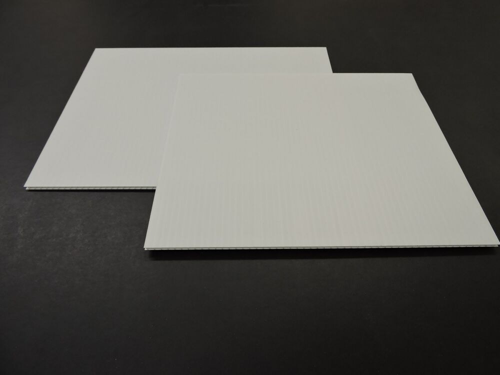 Corrugated Plastic 4 Mm White Boards 18 Quot X 12 Quot 10 Sheets