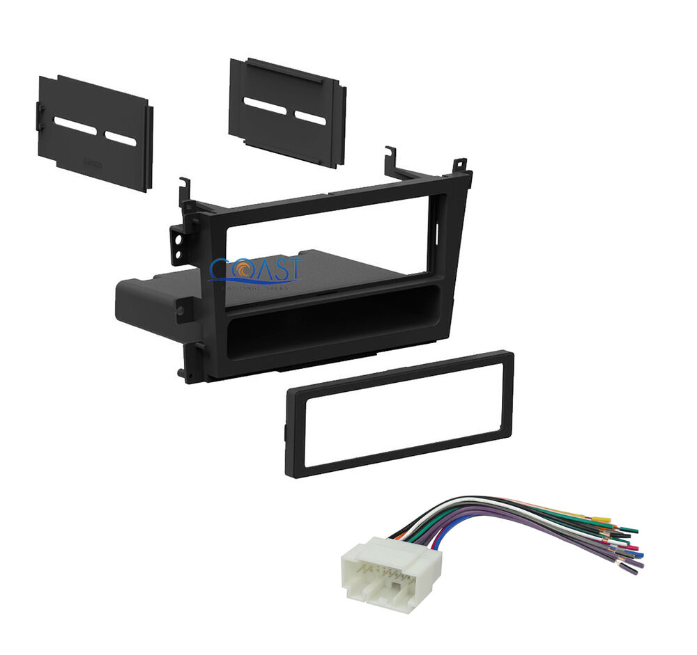 Car Radio Single Din Stereo Dash Kit   Wiring Harness For 1999