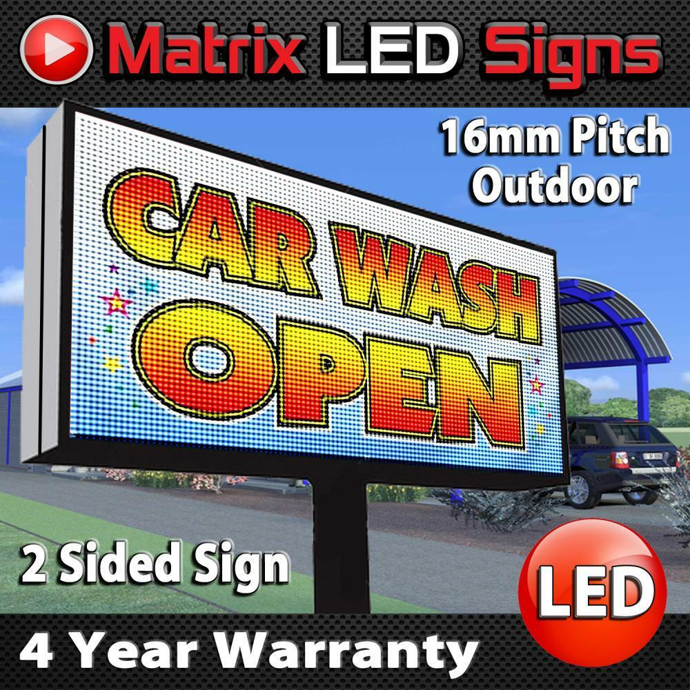 Led Sign Outdoor Full Color Double Sided Led Programmable
