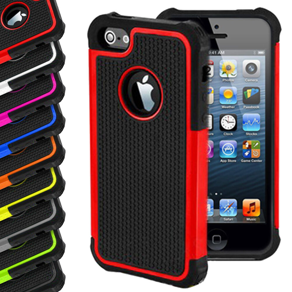 iphone 5s hard case shock proof hybrid silicone builder cover for 14809