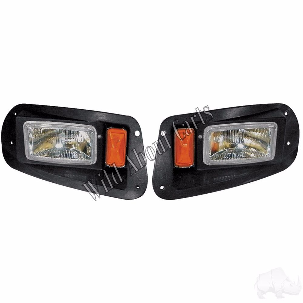 Golf Cart Headlights : Golf cart rhox adjustable headlights with bezels halogen