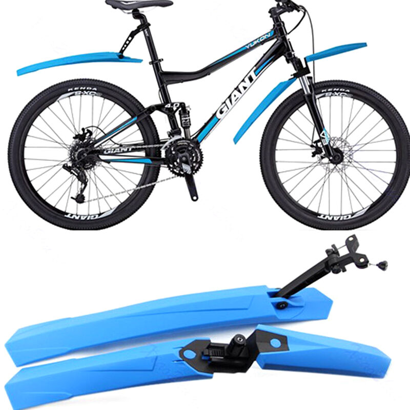 2Pcs Bicycle Mountain Bike MTB Cycling Front Rear Fenders Splash Guard Mudguards