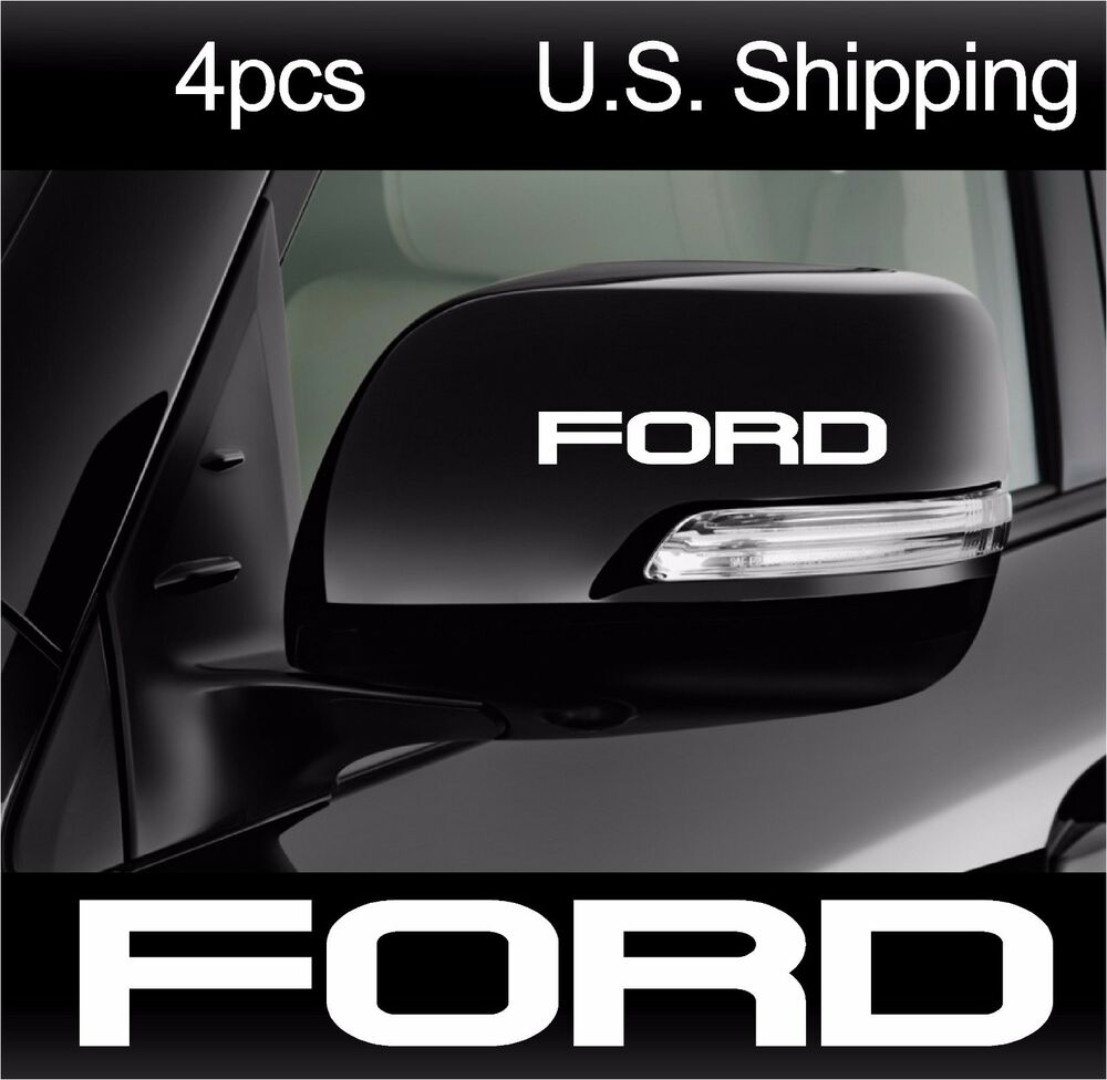 4 Ford Stickers Decals Wing Mirror Door Handle Wheels