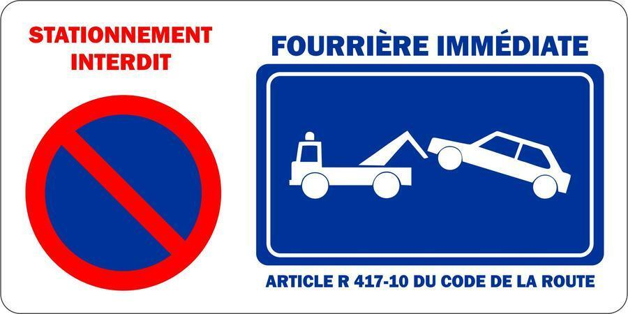 Autocollant sticker portail garage stationnement interdit for Panneau interdiction de stationner devant garage