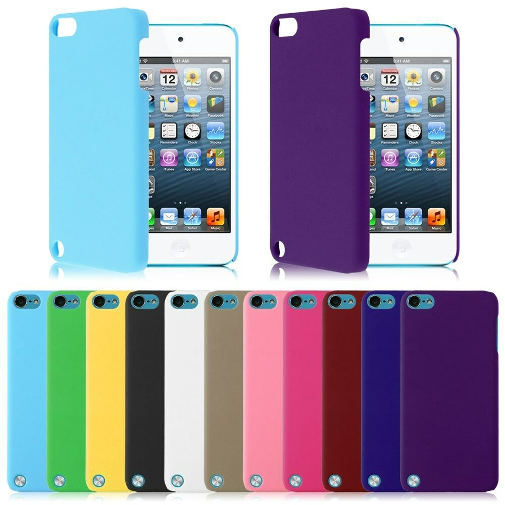 protective slim hard rubberized plastic case cover for ipod touch 5th 6th gen ebay. Black Bedroom Furniture Sets. Home Design Ideas
