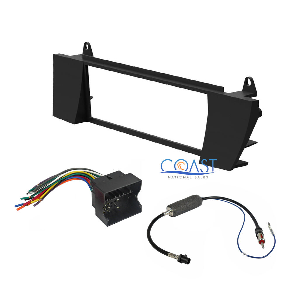 single din radio stereo dash kit harness antenna for 2003. Black Bedroom Furniture Sets. Home Design Ideas
