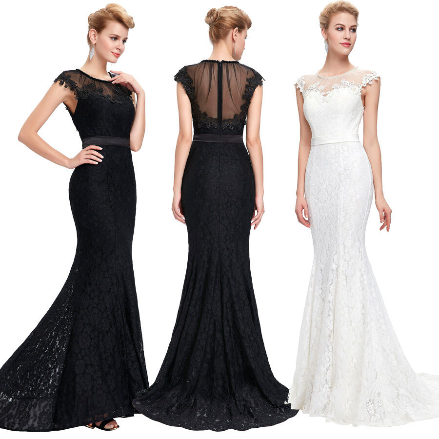 Renaissance Long Pageant Bridesmaids Evening Formal Party: Sexy Formal Long Women Lace Bridesmaid Dresses Prom