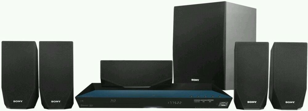sony bdv e2100 5 1 ch 1000 watt 3d blu ray dvd player home theater system 27242857667 ebay. Black Bedroom Furniture Sets. Home Design Ideas