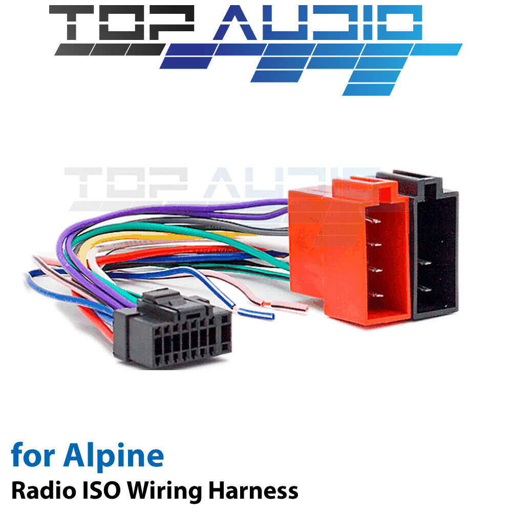 alpine cde w265ebt iso wiring harness cable adaptor connector lead rh ebay com iso wiring harness colors iso wiring harness connector/adaptor for pioneer 16 pin