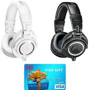 Audio-Technica ATH-M50x Headphones + $30 Visa Gift Card $120 + Free Shipping