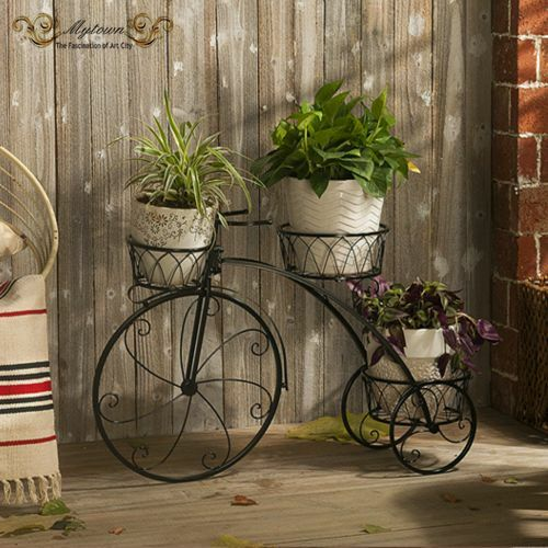 Home Garden Decor Indoor Outdoor Metal Bicycle French