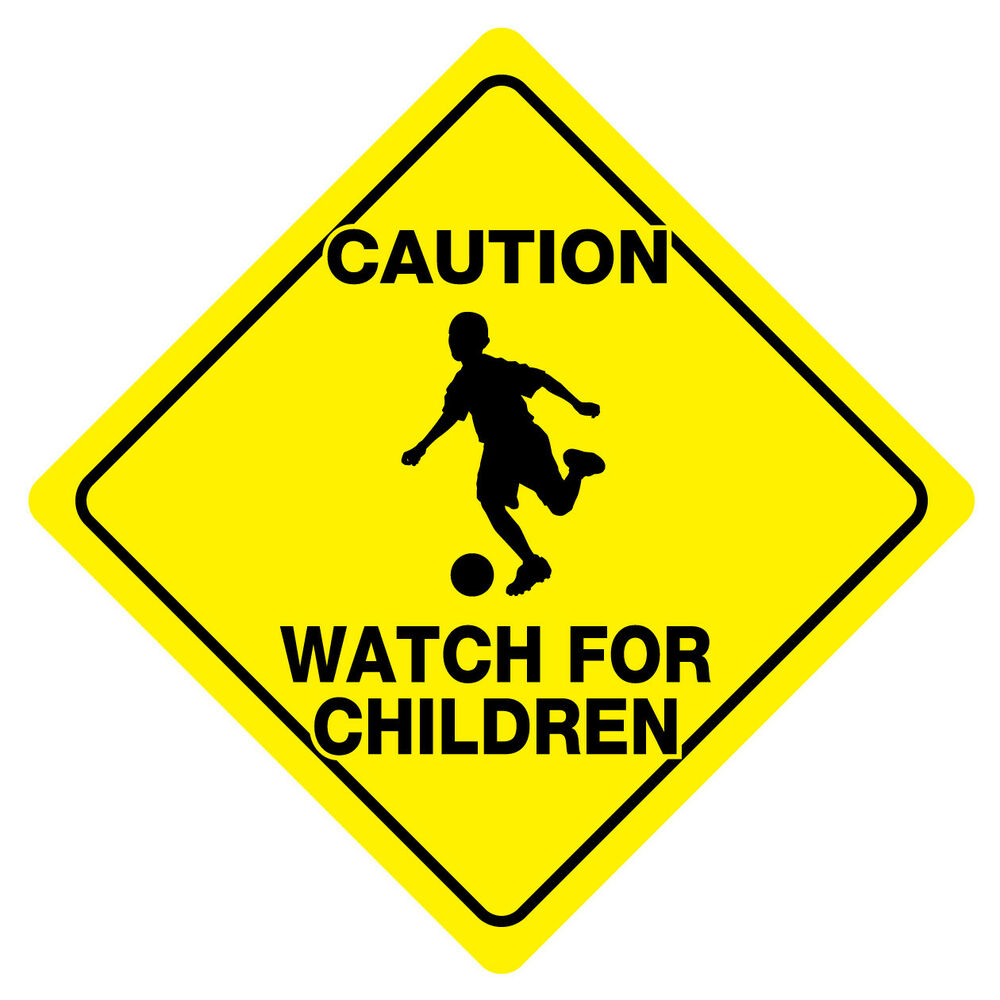 CAUTION WATCH FOR CHILDREN Sign Slow Playing play safety ...