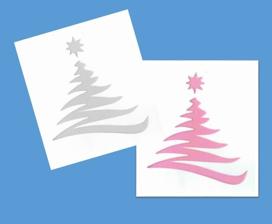 Stencil Christmas Tree Star Holiday Whimsical Winter