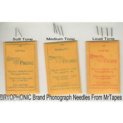 Kyпить 300 NEW Loud, Medium & Soft Tone STEEL PHONOGRAPH NEEDLES VICTROLA BRY-O-PHONIC на еВаy.соm