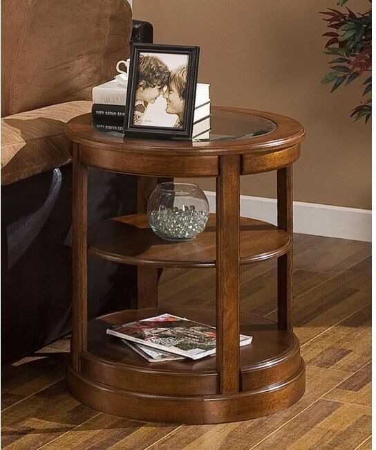 Contemporary Side Table Living Room End Accent Tables Furniture Shelf Storage
