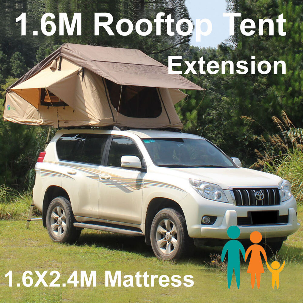 rooftop roof top tent camper trailer 4wd 4x4 camping car rack ladder ebay. Black Bedroom Furniture Sets. Home Design Ideas