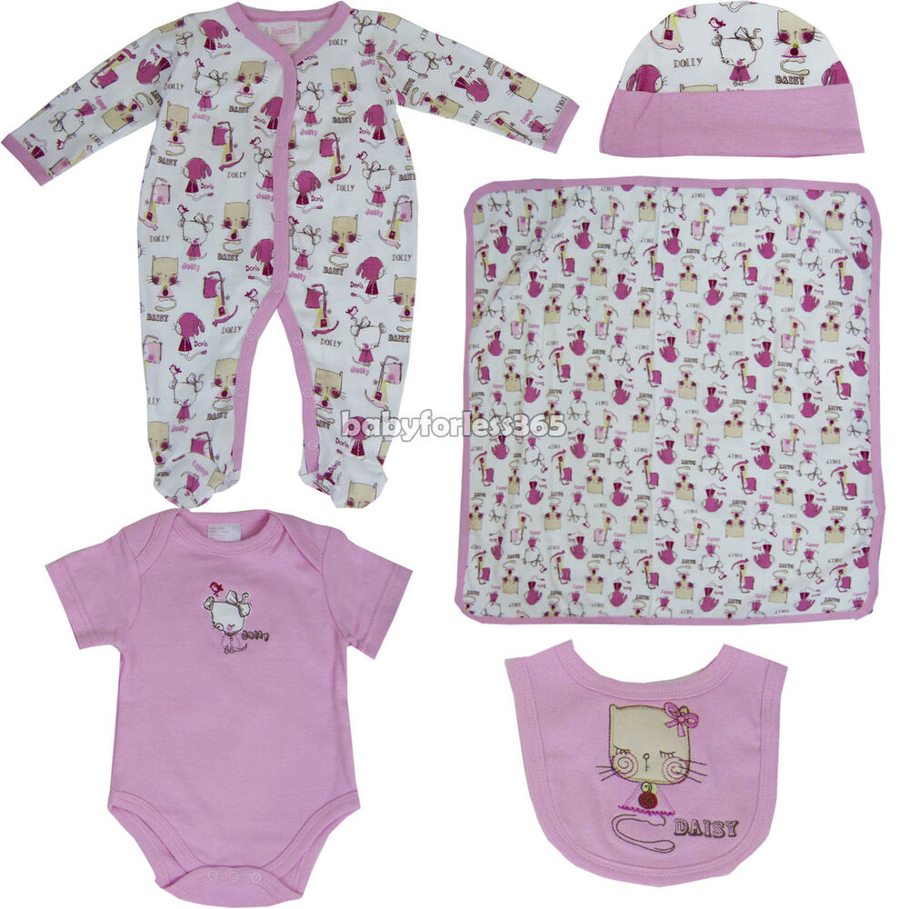 Nannette 5 Pieces Lot Baby Girls Gift Sets Clothes Outfits ...