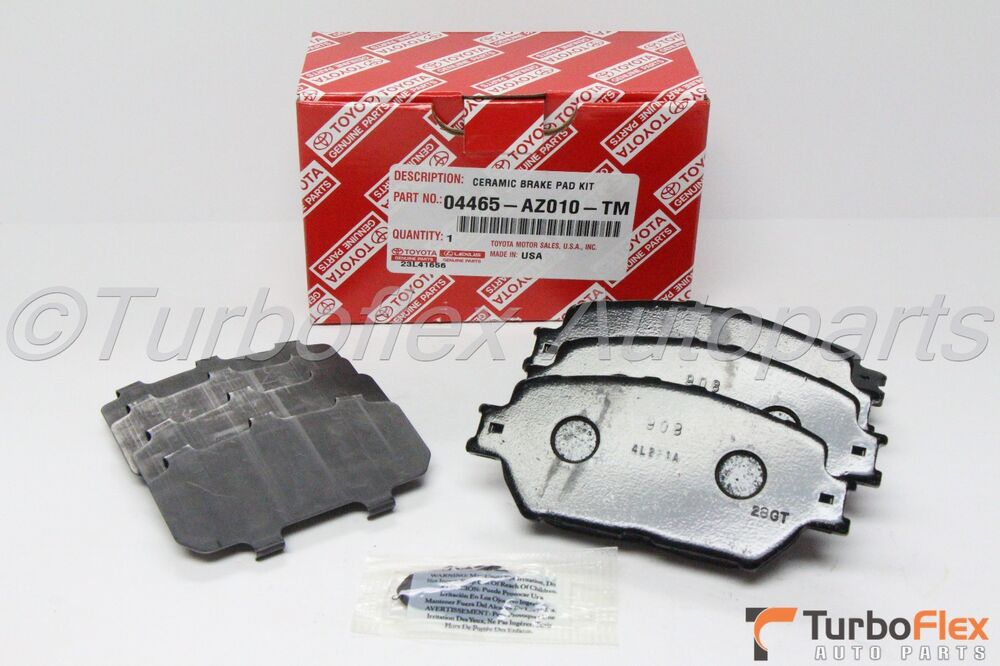 toyota camry 2002 2006 4cyl v6 front ceramic brake pads genuine 04465 az010 tm ebay. Black Bedroom Furniture Sets. Home Design Ideas