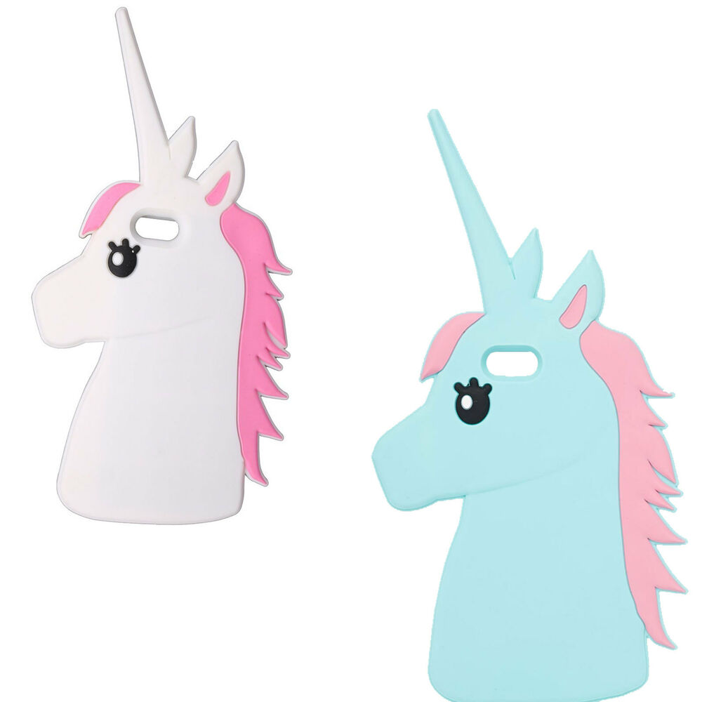 cute animal unicorn horse silicone 3d case for iphone 4 5. Black Bedroom Furniture Sets. Home Design Ideas