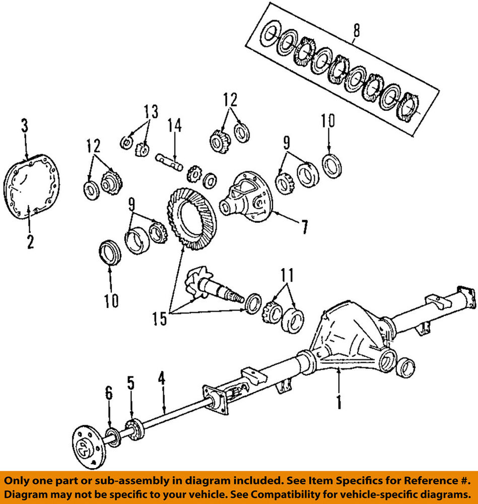 Ford Oem 08 14 E 350 Super Duty Rear Axle Bearings Eotz1225a Ebay 2000 Mazda Mpv Engine Diagram Bottom View