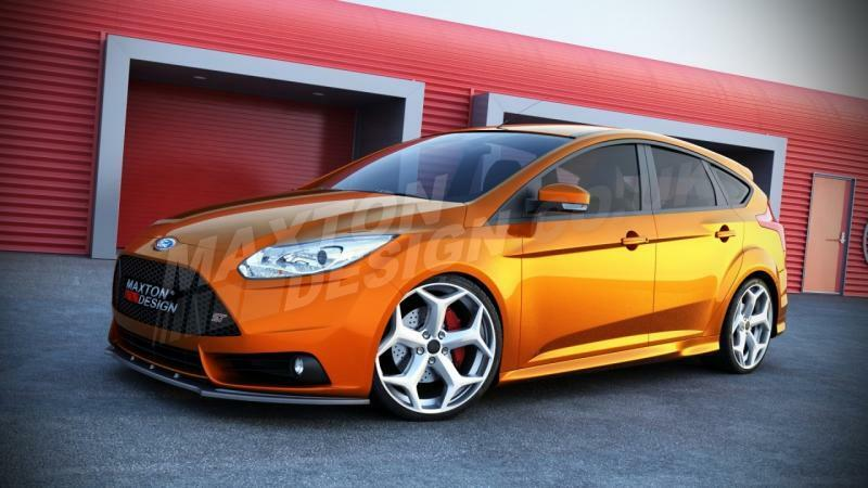 front splitter smooth ford focus st mk3 pre face 2012. Black Bedroom Furniture Sets. Home Design Ideas