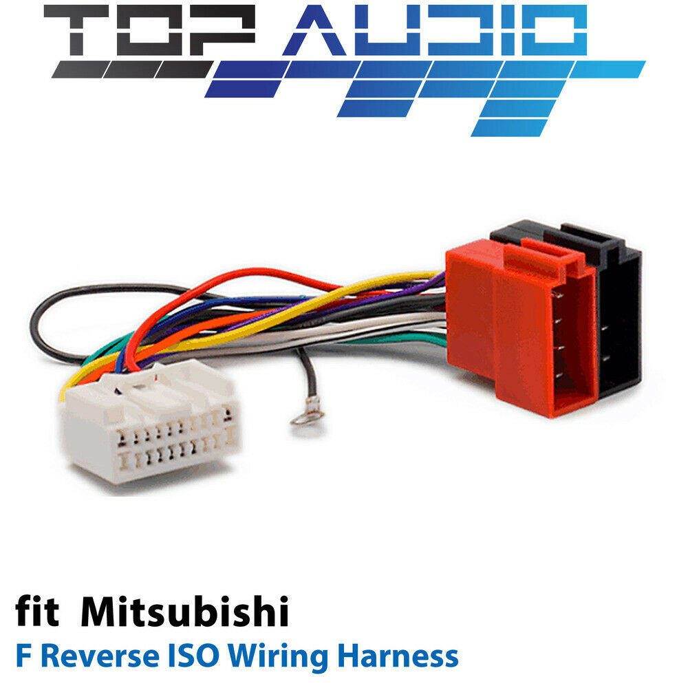 F Reverse ISO Wiring Harness for Mitsubishi adaptor cable lead loom | eBay