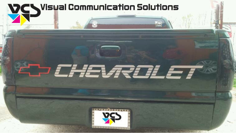 Chevy Tailgate Letter Decal Sticker Trucks CUSTOM MADE ...