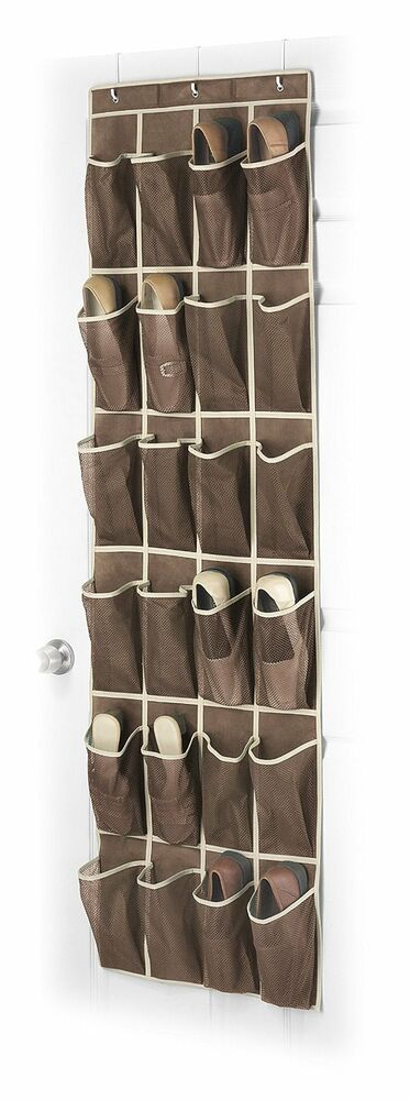 new over the door shoe organizer hanging storage holder rack closet shoes ebay. Black Bedroom Furniture Sets. Home Design Ideas