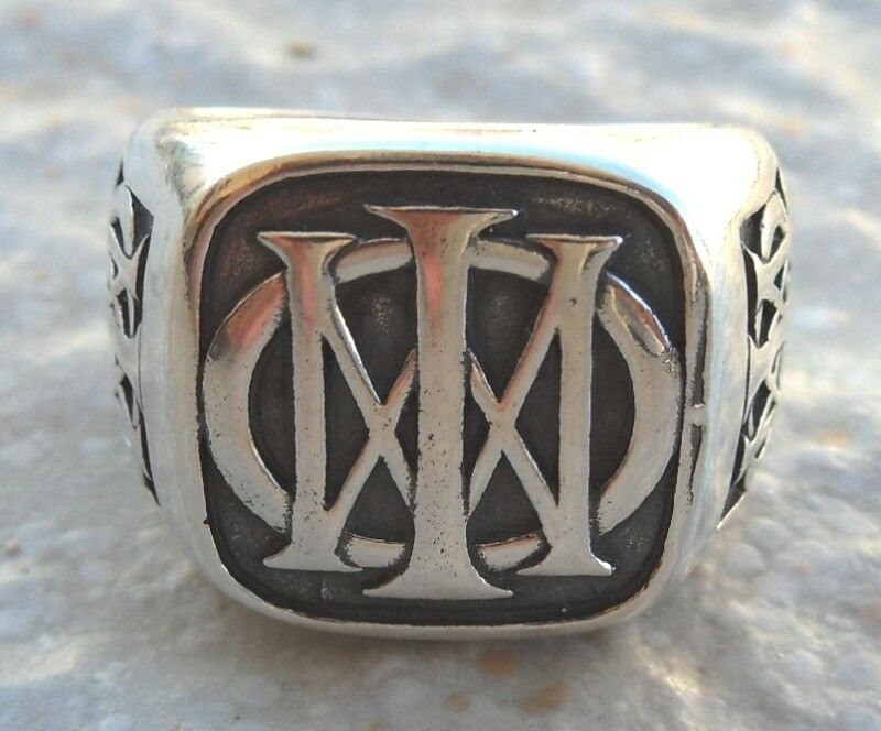 solid sterling silver 925 theater band logo ring ebay