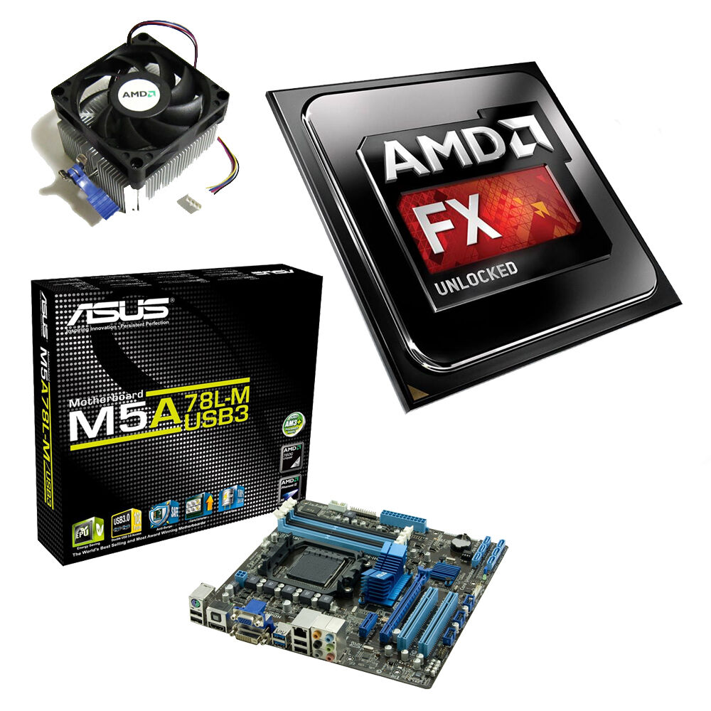 AMD FX 6300 Six Core 410GHz ASUS M5A78LM USB3 Motherboard