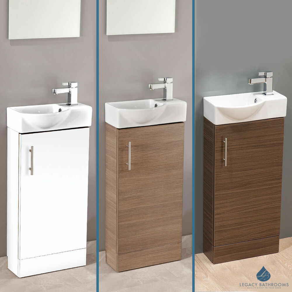 Slimline 400 Vanity Basin Sink Unit Bathroom Cloakroom Floorstanding Luxury Ebay
