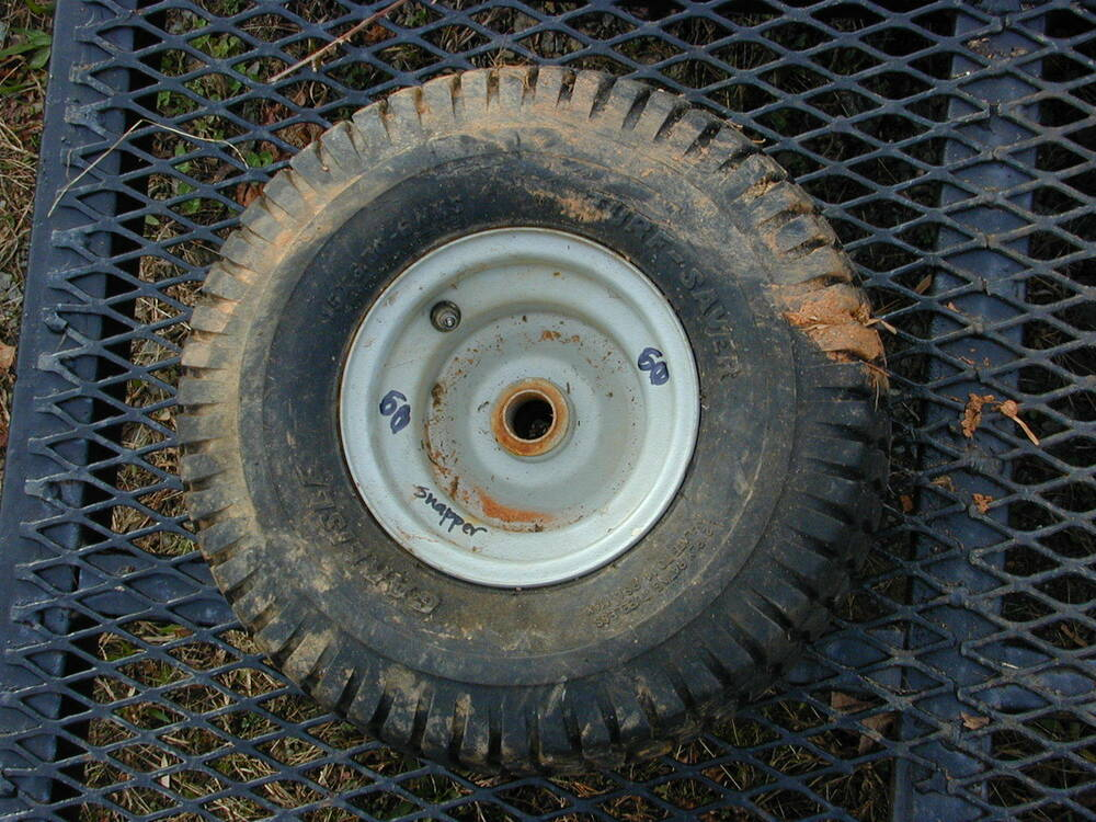 Snapper Riding Mower Wheels : Snapper riding lawn mower front tire wheel