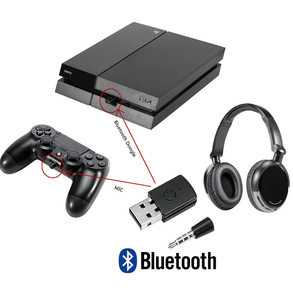 usb dongle bluetooth adaptor for ps4 gaming headset bluetooth headphones ebay. Black Bedroom Furniture Sets. Home Design Ideas