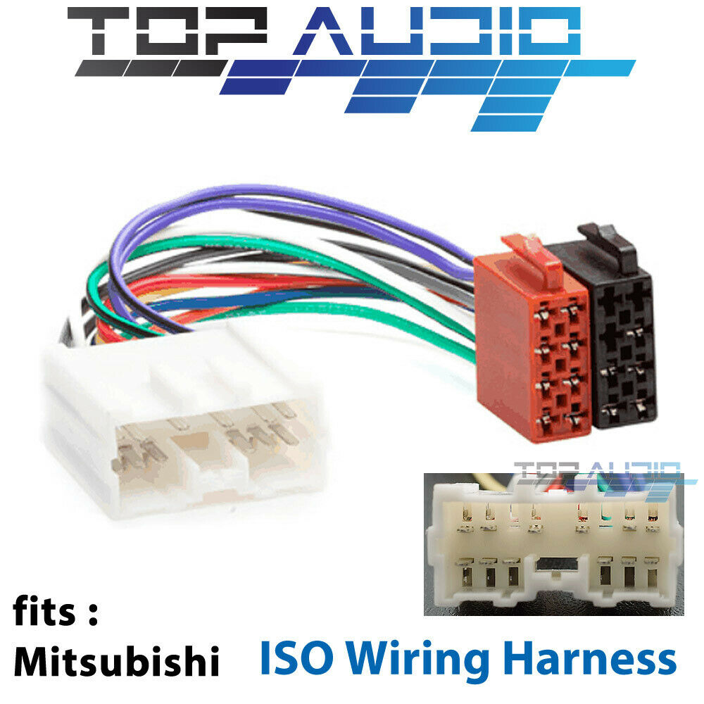 s l1000 mitsubishi iso wiring harness adaptor cable connector lead loom  at mifinder.co