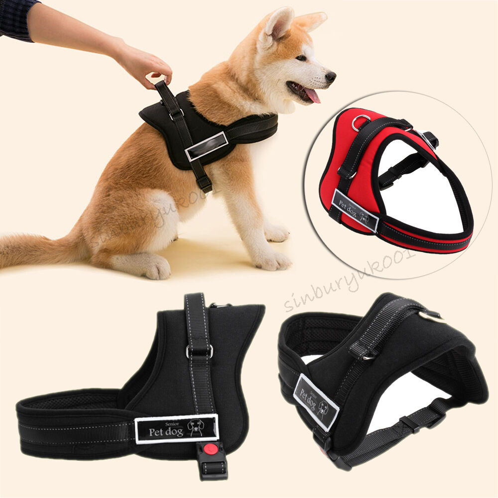Heavy Duty Husky Soft Padded Non Pull Dog Harness Chest