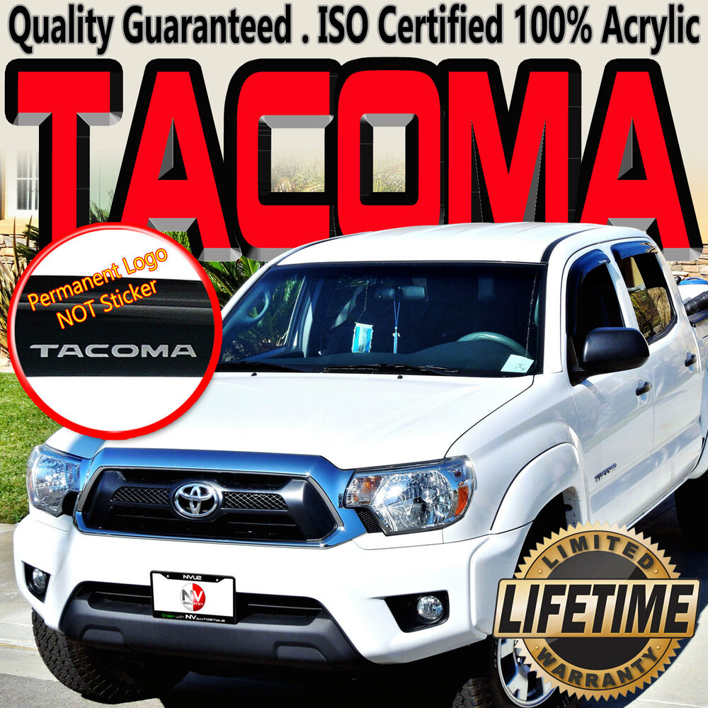 Tacoma 2005-2015 Crew Double Cab Window Deflectors with ...