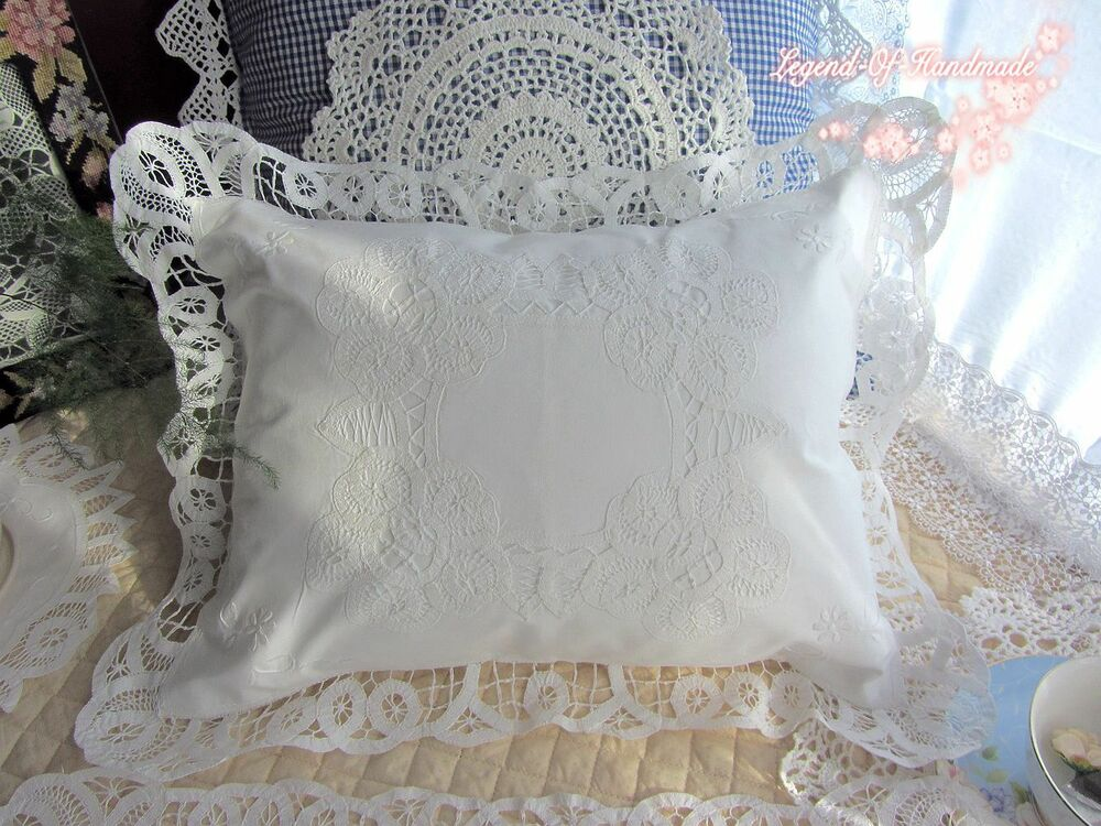 Vintage Battenburg Lace Pillow Cover Cushion Case Baby