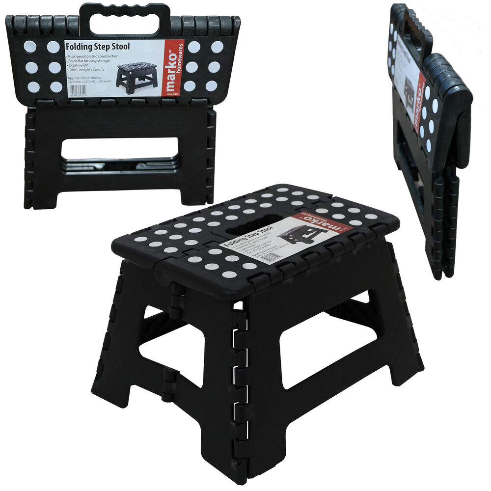 Plastic Folding Step Stool Multi Purpose Foldabale Stool Kitchen Garage Home Ebay