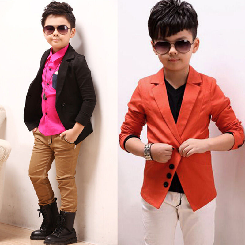 Korean Kids Tuxedo Blazer Suit Boys Formal Wedding Party Jacket Coat Outwear NEW | EBay