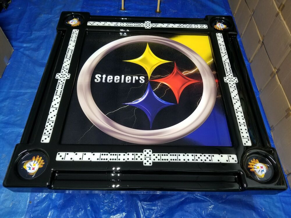 Domino Tables By Art With Steelers Theme Ebay