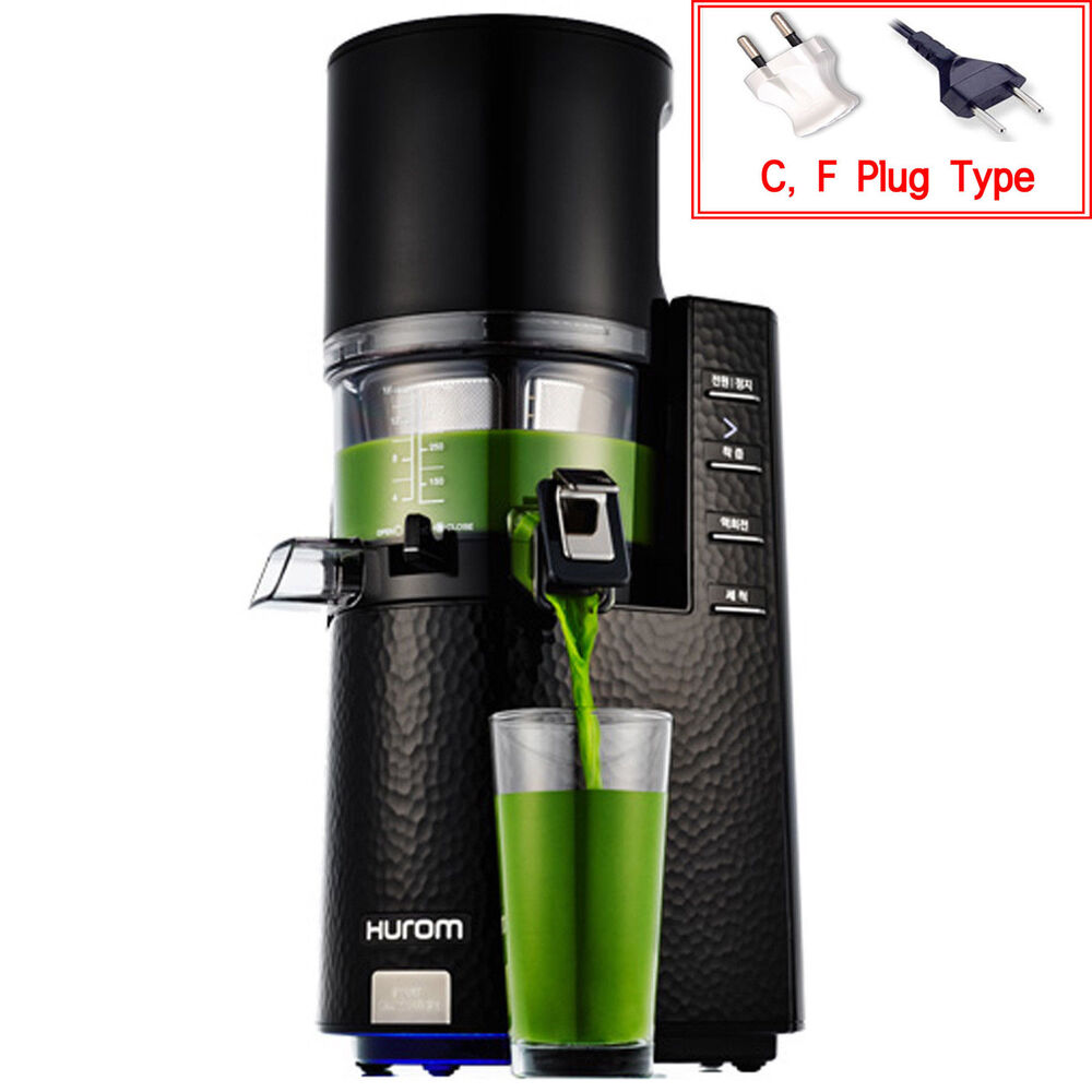 Hurom HR-BBF14 Slow Juicer Fruit Citrus Extractor Premium Limited Edition Black eBay