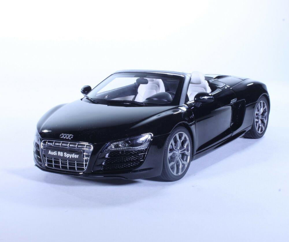 tc17 new audi r8 spyder sport coupe black 1 18 1 18. Black Bedroom Furniture Sets. Home Design Ideas