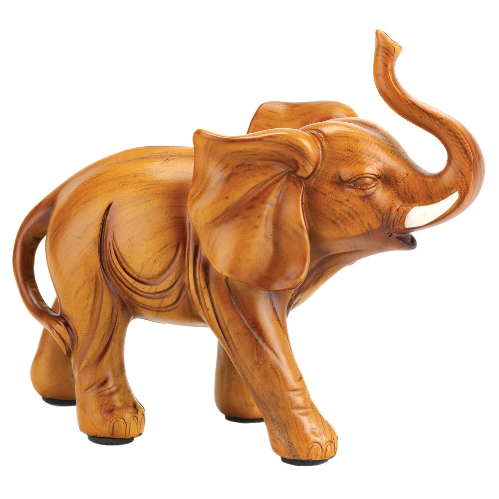 Small Elephant Decor: SMALL LUCKY ELEPHANT FIGURINE STATUE~13046