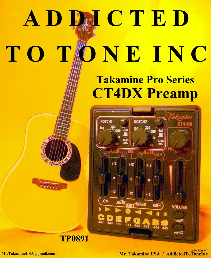 takamine ct4 dx acoustic guitar dual parametric preamp ctp 2 ctp 3 ebay. Black Bedroom Furniture Sets. Home Design Ideas