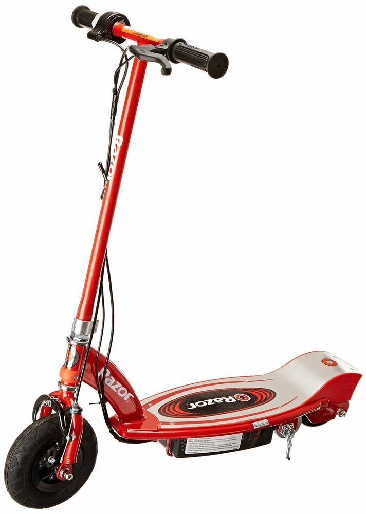 Razor E100 Kick Scooter Red Electric Kid Safe Ride On 24v