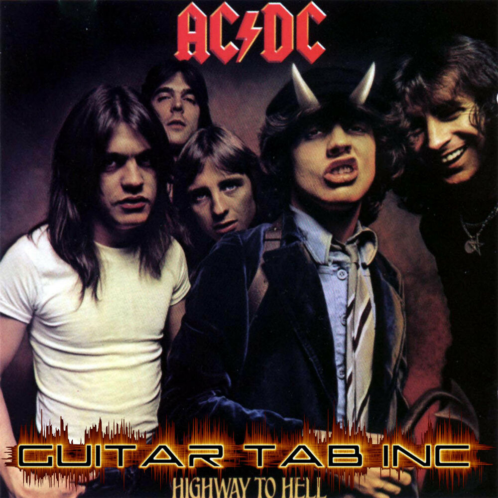 ac dc guitar tab highway to hell lessons on disc angus young ebay. Black Bedroom Furniture Sets. Home Design Ideas