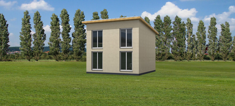 fertighaus rohbau mit montage 6 50 x 6 50m mini haus tiny. Black Bedroom Furniture Sets. Home Design Ideas