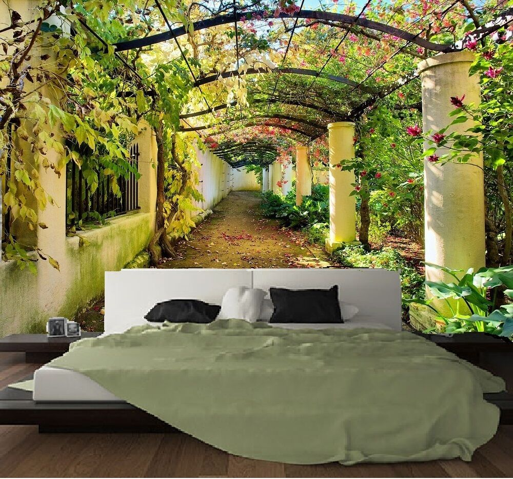 papier peint intisse trompe l 39 oeil photo murale relief 3d paysage ebay. Black Bedroom Furniture Sets. Home Design Ideas